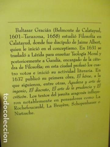 Libros de segunda mano: EL HOMBRE EN SU PERFECCIÓN / BALTASAR GRACIAN / SABER PARA VIVIR / ED. TEMAS DE HOY 1996 - Foto 4 - 163415342