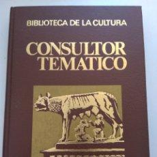 Libros de segunda mano: CONSULTOR TEMATICO/HISTORIA DE LA HUMANIDAD 2 TOMOS. Lote 163462448