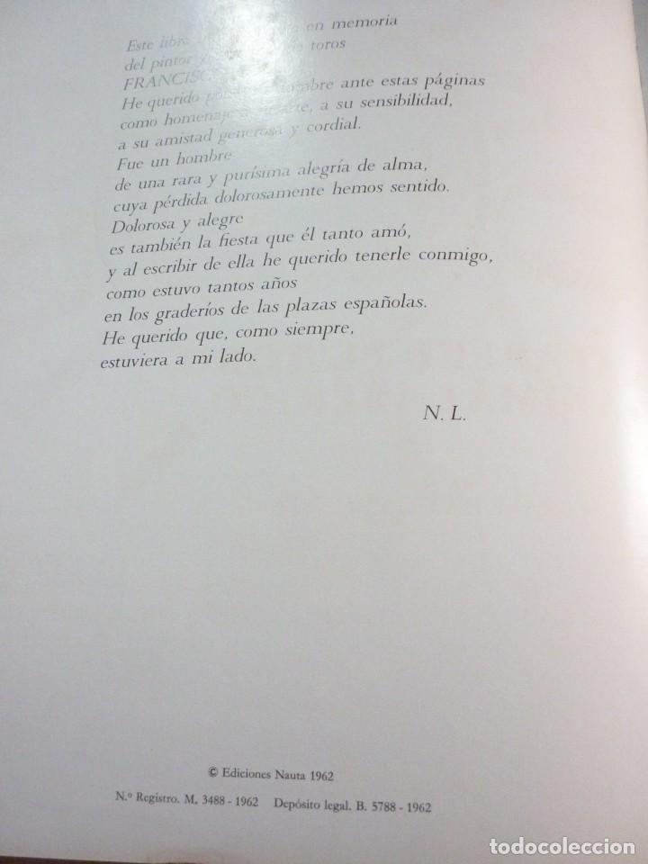 Libros de segunda mano: LIBRO TAUROMAQUIA. EDICIONES NAUTA. FOTOS F. CATALÁ. PRIMERA EDICION 1962 - Foto 3 - 163603830