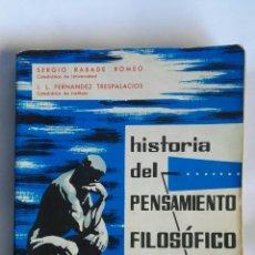 Libros de segunda mano: HISTORIA DEL PENSAMIENTO FILOSÓFICO Y CIENTÍFICO. Lote 163624968