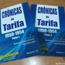 Libros de segunda mano: CRÓNICAS DE TARIFA. 1950 - 1954. 2 TOMOS. CÁDIZ. HISTORIA. AL QANTIR N° 19. 2016. Lote 163802654
