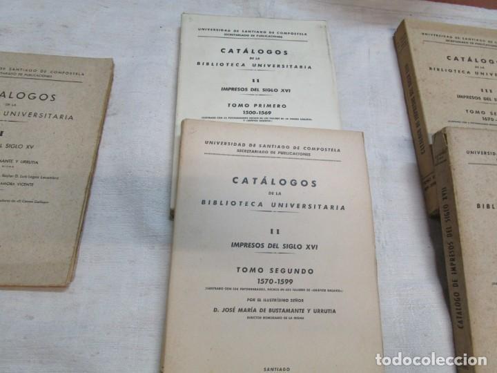 Libros de segunda mano: GALICIA BIBLIOGRAFIA - CATALOGO DE LA BIBLIOTECA UNIVERSITARIA - JOSE MARIA BUSTAMANTE Y URRUTIA 12T - Foto 3 - 163999922