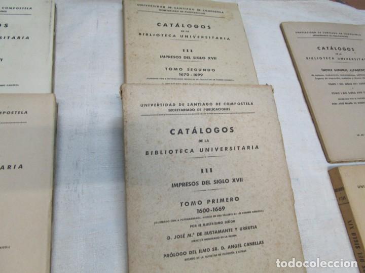 Libros de segunda mano: GALICIA BIBLIOGRAFIA - CATALOGO DE LA BIBLIOTECA UNIVERSITARIA - JOSE MARIA BUSTAMANTE Y URRUTIA 12T - Foto 4 - 163999922