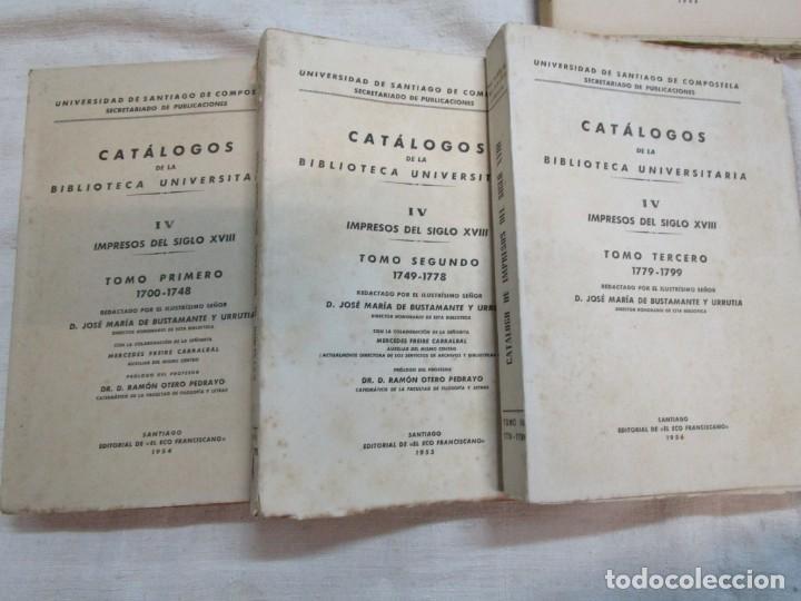 Libros de segunda mano: GALICIA BIBLIOGRAFIA - CATALOGO DE LA BIBLIOTECA UNIVERSITARIA - JOSE MARIA BUSTAMANTE Y URRUTIA 12T - Foto 5 - 163999922
