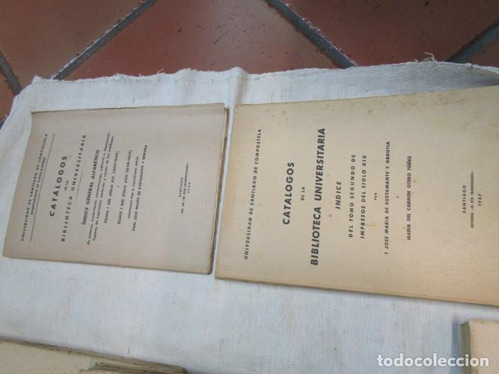 Libros de segunda mano: GALICIA BIBLIOGRAFIA - CATALOGO DE LA BIBLIOTECA UNIVERSITARIA - JOSE MARIA BUSTAMANTE Y URRUTIA 12T - Foto 7 - 163999922