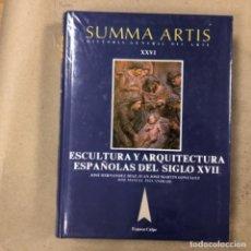 Libros de segunda mano: SUMMA ARTIS (HISTORIA GENERAL DEL ARTE). TOMO XXVI. ESCULTURA Y ARQUITECTURA ESPAÑOLAS DE SIGLO XVII. Lote 164090386