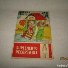 Libros de segunda mano: NUEVAS TRAVESURAS DE MARI PEPA DE MARIA CLARET Y EMILIA COTARELO CON LOS RECORTABLES. Lote 164096362