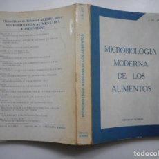 Libros de segunda mano: JAMES M. JAY MICROBIOLOGÍA MODERNA DE LOS ALIMENTOS Y94061. Lote 164112554
