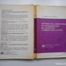Libros de segunda mano: MÉTODOS DE LABORATORIO EN MICROBIOLOGÍA DE ALIMENTOS Y PRODUCTOS LACTEOS Y94062. Lote 164112842