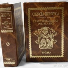 Libros de segunda mano: FACSÍMIL DE CIENCIA HEROYCA. LEYES HERÁLDICAS DEL BLASON DE EL MARQUÉS DE AVILÉS EN DOS TOMOS. Lote 164229514