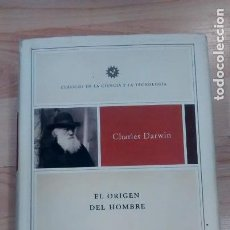 Libros de segunda mano: 'EL ORIGEN DEL HOMBRE'. CHARLES DARWIN. CRÍTICA. Lote 164583474