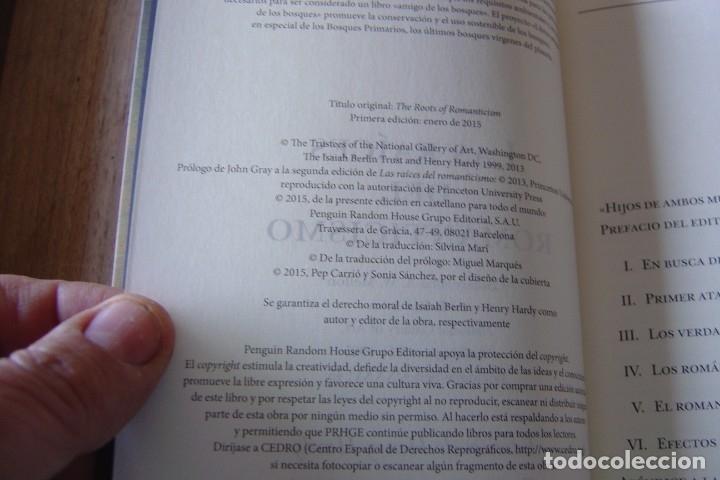 Libros de segunda mano: LAS RAÍCES DEL ROMANTICISMO. ISAIAH BERLIN.TAURUS. 1A EDICIÓN 2015 - Foto 3 - 164137086