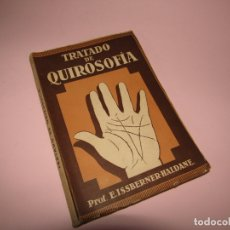 Libros de segunda mano: ANTIGUO TRATADO DE QUIROSOFÍA DE LA EDITORIAL ORBIS CON 38 ILUSTRACIONES. Lote 164714594