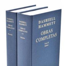 Libros de segunda mano: OBRAS COMPLETAS, TOMO I. NOVELAS / TOMO II. RELATOS - HAMMETT, DASHIELL. Lote 164723073