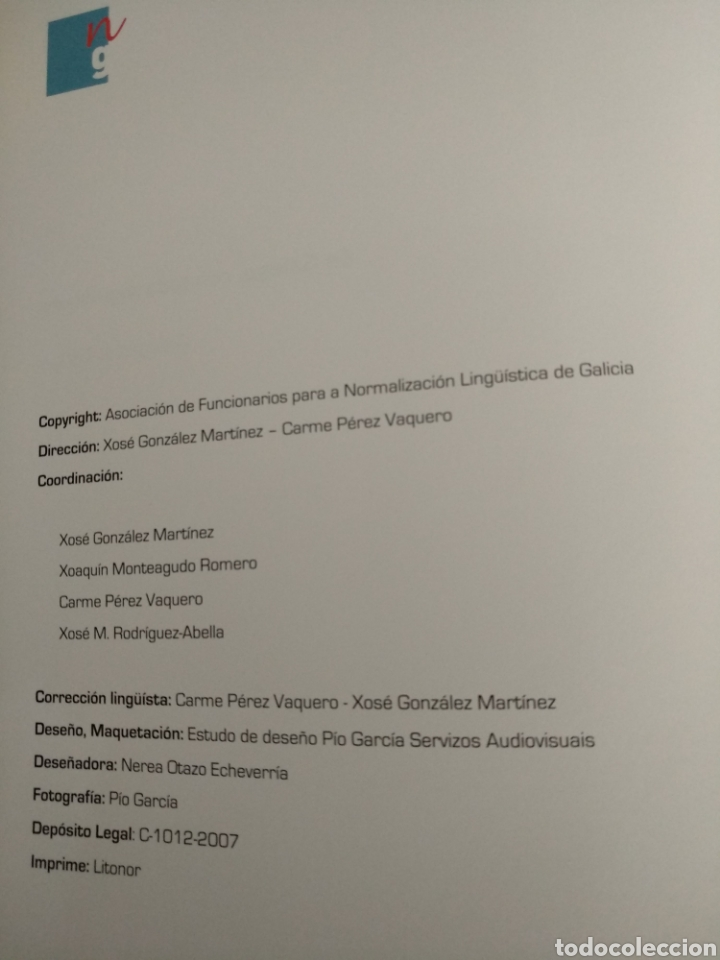 Libros de segunda mano: Galeguizar Galicia. En galego con toda seguridade, 2007 - Foto 2 - 164743442