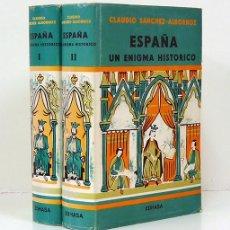 Libros de segunda mano: CLAUDIO SÁNCHEZ-ALBORNOZ. ESPAÑA, UN ENIGMA HISTÓRICO. EDHASA 1977. [2 TOMOS]. Lote 164996530