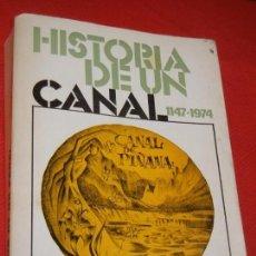 Libros de segunda mano: HISTORIA DE UN CANAL 1147-1974 (CANAL DE PIÑANA) DE RAMON SOL Y M.CARMEN TORRES 1974. Lote 165059762