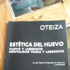 Libros de segunda mano: GRAN LIBRO ,ESTÉTICA DEL HUEVO (OTEIZA). Lote 165110868
