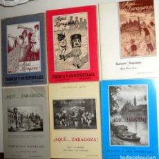 Libros de segunda mano: OBRA COMPLETA 6 TOMOS ¡AQUÍ...ZARAGOZA! JOSE BLASCO IJAZO REPORTAJES - EDICIÓN FACSÍMIL EL NOTICIERO. Lote 165113774