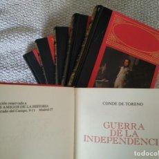 Libros de segunda mano: GUERRA DE LA INDEPENDENCIA - CONDE DE TORENO. 6 TOMOS. COMPLETO.. Lote 165152450