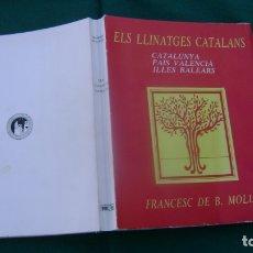 Libros de segunda mano: ELS LLINATEGES CATALANS FRANCES DE BORJA MOLL GENEALOGIA SOFABIBLIOTECA. Lote 165272030