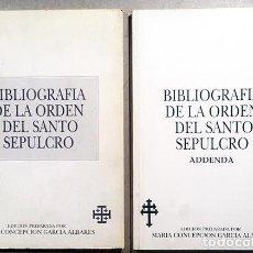 Libros de segunda mano - Bibliografía de la Orden del Santo Sepulcro. (2 vol.. García Albares. Ordenes. Genealogía) - 165325850