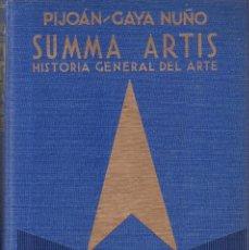 Libros de segunda mano: SUMMA ARTIS - VOL. XXIII - 1ª EDICION 1967 - ARTE EUROPEO DE LOS SIGLOS XIX / XX. Lote 165390654