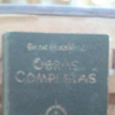 Libros de segunda mano: OBRAS COMPLETAS. EMILIO MOLA VIDAL. Lote 161828674