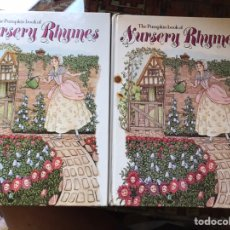 Libros de segunda mano: THE PUMPKIN BOOK OF NURSERY RHIMES. DOS LIBROS. IDEAL PARA APRENDER INGLÉS.. Lote 165649958
