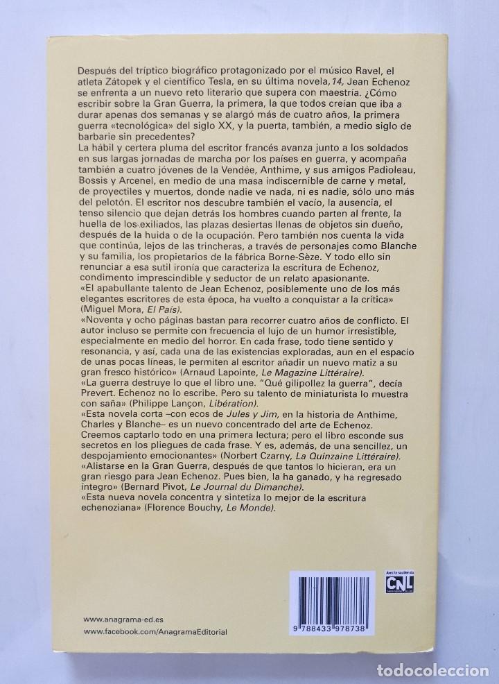 Libros de segunda mano: JEAN ECHENOZ / 14 / ANAGRAMA 2014 - Foto 2 - 165754286