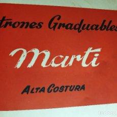 Libros de segunda mano: EXTRAORDINARIO CONJUNTO DE PATRONES GRADUABLES MARTÍ ALTA COSTURA TEMPORADAS 1946-1972 + EXTRAS. Lote 165788214