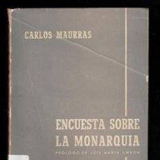Libros de segunda mano: ENCUESTA SOBRE LA MONARQUÍA, CARLOS MAURRAS. Lote 165917634