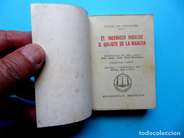 Libros de segunda mano: EL INGENIOSO HIDALGO DON QUIJOTE DE LA MANCHA. II TOMOS CERVANTES. ENCICLOPEDIA PULGA. GIGANTE, S/F - Foto 2 - 165973214