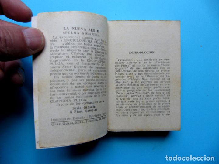 Libros de segunda mano: EL INGENIOSO HIDALGO DON QUIJOTE DE LA MANCHA. II TOMOS CERVANTES. ENCICLOPEDIA PULGA. GIGANTE, S/F - Foto 3 - 165973214