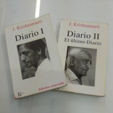 Libros de segunda mano: DIARIO I - II J. KRISHNAMURTI KAIROS 2004 DIARIO Y ULTIMO DIARIO. Lote 166127942