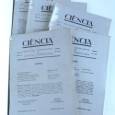 Libros de segunda mano: REVISTA CIÈNCIA – REVISTA CATALANA DE CIÈNCIA I TECNOLOGIA – 5 NÚMEROS 1929. Lote 166183878