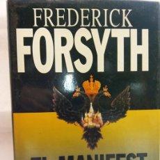 Libros de segunda mano: STQ.FREDERICK FORSYTH.EL MANIFEST NEGRE.EDT, PLAZA Y JANES.BRUMART TU LIBRERIA.. Lote 166238738