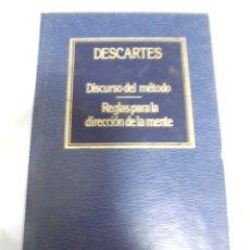 Libros de segunda mano: DISCURSO DEL METODO. DESCARTES. Nº 1. EDICIONES ORBIS. 263 PAGINAS. Lote 172686595