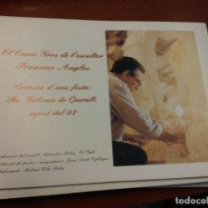 Libros de segunda mano: BJS.CRONICA D´UNA FESTA: STA COLOMA DE QUERALT. AGOST DEL 93. FRANCESC ANGLES.BRUMART TU LIBRERIA.. Lote 166253770