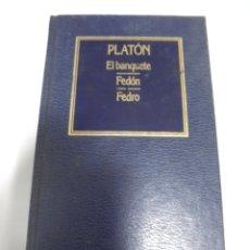 Libros de segunda mano: EL BANQUETE / FEDON / FEDRO. PLANTON. Nº 3. EDICIONES ORBIS. 373 PAGINAS. Lote 166255798