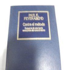 Libros de segunda mano: CONTRA EL METIDO. PAUL K. FEYERABEND. Nº 42. EDICIONES ORBIS. 189 PAGINAS. Lote 166256038