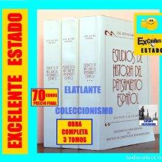 Libros de segunda mano - ESTUDIOS DE HISTORIA DEL PENSAMIENTO ESPAÑOL JOSÉ ANTONIO MARAVALL - 3 TOMOS - COMPLETA - 70 EUROS - 166272422