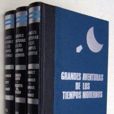 Libros de segunda mano: GRANDES AVENTURAS DE LOS TIEMPOS MODERNOS - DEL POLO A LA LUNA - 3 TOMOS - ILUSTRADO *. Lote 166292534