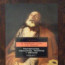 Libros de segunda mano: PROTESTANTES, VISIONARIOS, PROFETAS Y MÍSTICOS - A. FERNÁNDEZ LUZÓN Y D. MORENO - DEBOLSILLO 2005. Lote 173406304