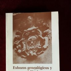 Libri di seconda mano: ALICANTE - ESBOZOS GENEALÓGICOS Y NOBILIARIOS RELATIVOS A ALICANTE - ERNESTO HURTADO ALVAREZ 1983. Lote 166500622