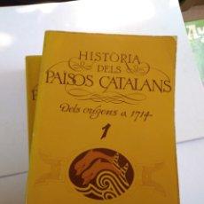 Libros de segunda mano: HISTÒRIA DELS PAÏSOS CATALANS TOMOS 1 Y 2. DELS ORIGENS A 1714/ JOSEP SALRACH EULALIA DURAN. Lote 166608288