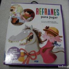 Libros de segunda mano: REFRANES PARA JUGAR. Lote 166660862