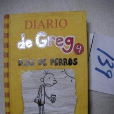 Libros de segunda mano: DIARIO DE GREG 4 - DIAS DE PERROS. Lote 166715650