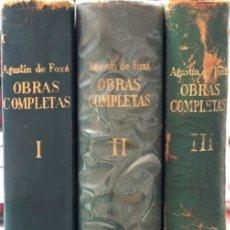 Libros de segunda mano: OBRAS COMPLETAS DE AGUSTIN DE FOXÁ. TOMOS I, II Y III. EDITORIAL PRENSA ESPAÑOLA. MADRID, 1976. Lote 166756534