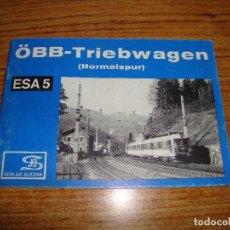 Libros de segunda mano: (TC-202/19) LIBRO TEMA TRENES FERROCARRILES OBB-TRIEBWAGEN NORMALSPUR. Lote 166854578